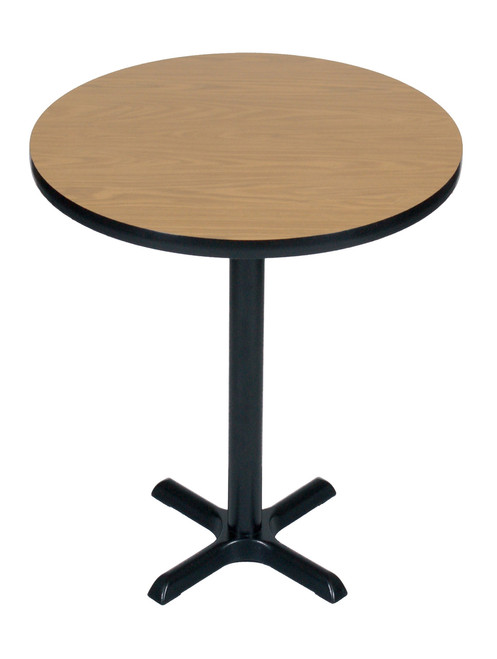 Bxb36R-01 Cafe and Breakroom Tables - Round Bar Stool-Standing Height - Walnut
