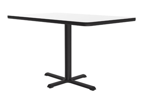 """Correll Markerboard-Dry Erase Top Cafe and Breakroom 24"""" Square Tables"""