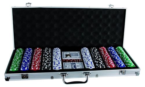 500pc Casino Size Poker Chip Set