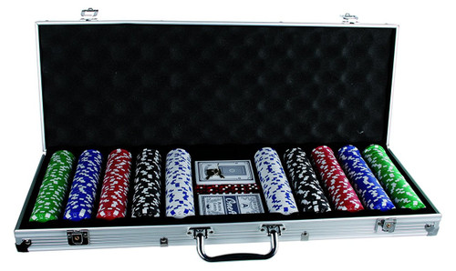 500pc Casino Size Poker Chip Set