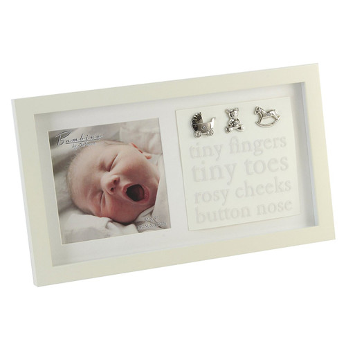 Bambino Photo Frame Baby Tiny Fingers Tiny Toes 5 x 5 (CG340)