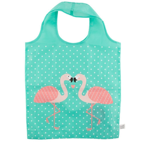 Eco Friendly Foldable Shopping bag - Flamingo Design