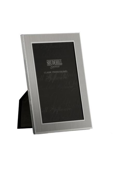 "4"" x 6"" Plain Satin Silver Classic Photo Frame Gift Present"