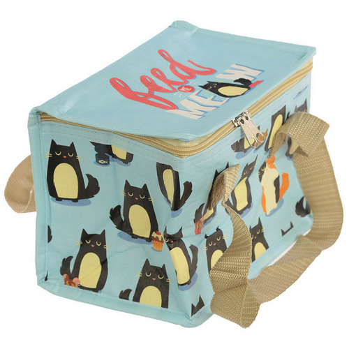 Woven Cool Bag Lunch Box - Feline Fine Cat Design