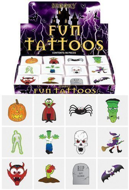 Henbrandt 2 x 24 Halloween Tattoos/ Transfers Trick or Treat Party Bag Fillers