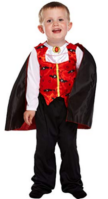 Boys Halloween Vampire  Fancy Dress Costume 2-3 years