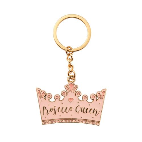 Prosecco Queen Crown Enamel Keyring
