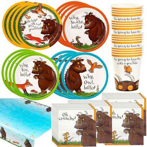 The Gruffalo Happy Birthday Party Bundle | Tablecover, Plates, Napkins & Cups