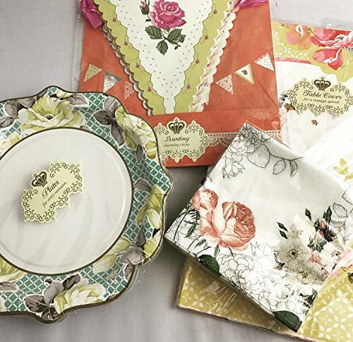 Truly Scrumptious Vintage Party Tableware Multi Pack Set