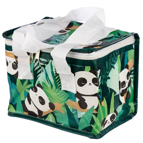 Woven Insulated Cool Bag Lunch Bag Tote - Panda Pandarama