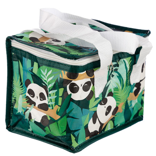 Woven Insulated Cool Bag Lunch Bag Tote - Panda Pandarama