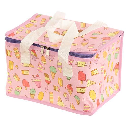 Woven Cool Bag Lunch Box - Kawaiice Ice Cream Design