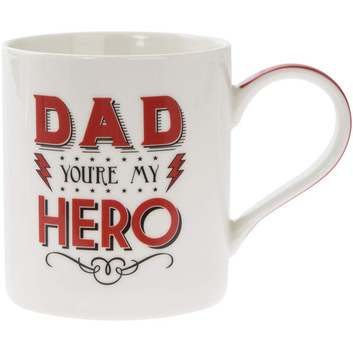 'Dad You're My Hero Mug' Cup