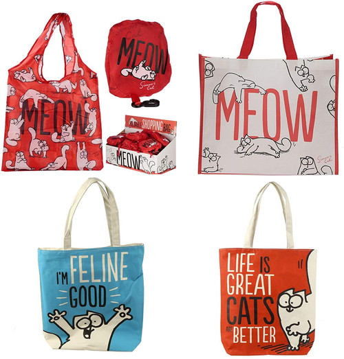 Simon's cat bag foldable reusable shopping bags