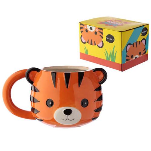 Cutiemals Ceramic Tiger Head Shaped Mug