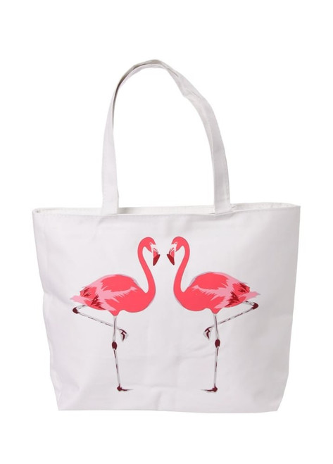 B Cotton Bags-Flamingo