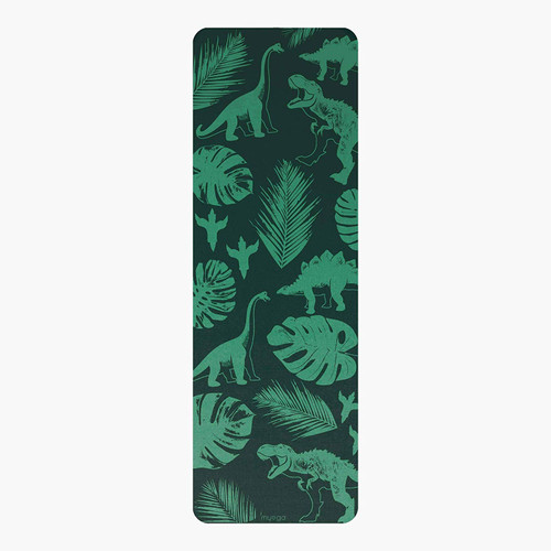 Myga Childrens Yoga Mat - Jurassic Jungle Printed Kids Yoga Mat - Childs Exercise Mat for Pilates, Non Slip Multi Purpose Fitness Mat - Core Workout for Home, Gym, Studio