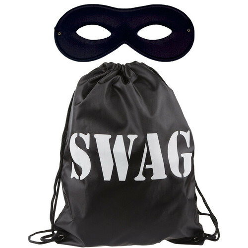 Robber Outfit - Swag Bag and Mask. World Book Day Fancy Dress