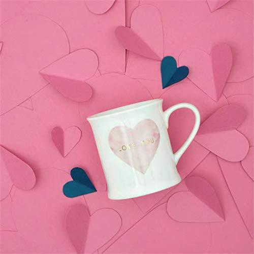 Sass & Belle Love You Pastel Pink Heart Mug