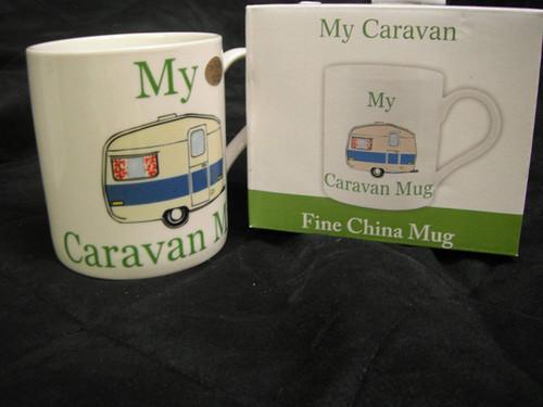 The Leonardo Collection My Caravan Mug Novelty Gift Boxed, Ceramic, White