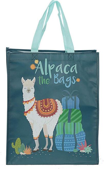 alpaca reusable shopping bag