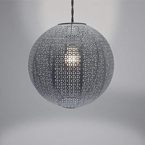 Country Club Nouveau Cadiz Ball Light Shade, Metal, Grey