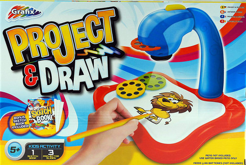 Project And Draw Boys Blue Drawing Station Toy With Interchangeable Slides