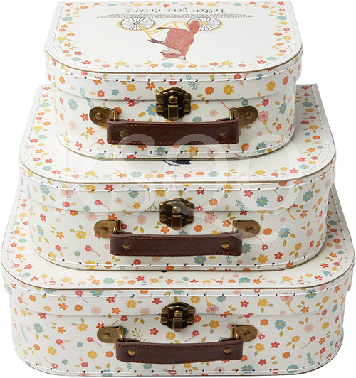 Happy Animals on a Bike Suitcases for children or storage
