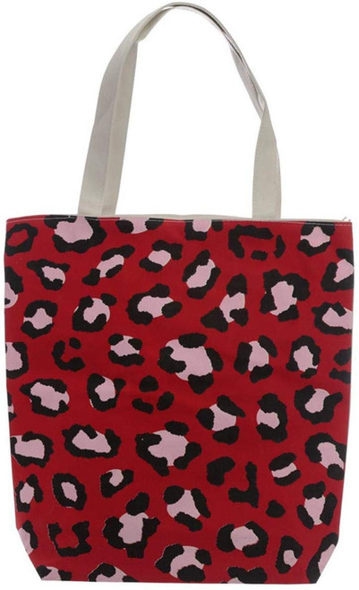 B Handy Cotton Zip Up Shopping Bag - Animal Print Wild Life