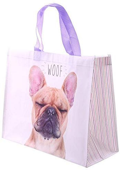 Bags of Room - French Bulldog WOOF Design Reusable Shopping Bag