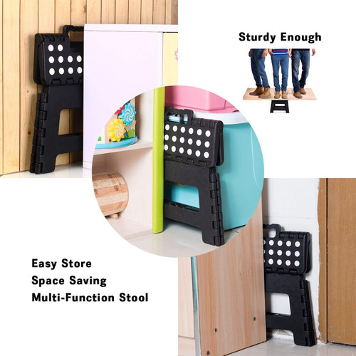 Super Strong Plastic 9 Inch Folding Step Stool