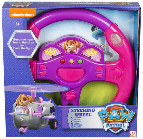 Sambro Paw Patrol Skye Steering Wheel Toy, Pink/Purple