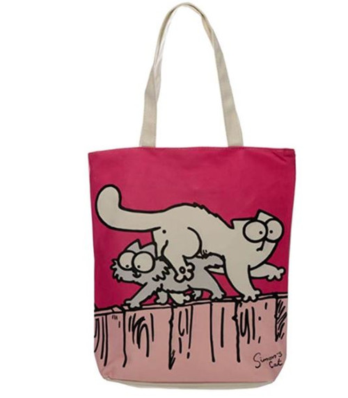 Pink Shopping Bag Simons Cat