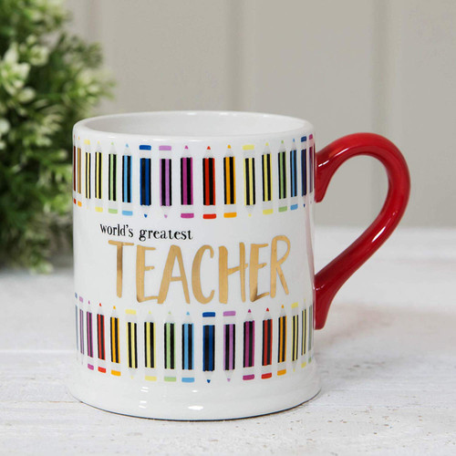 Quick Silver Perfect Mug - Electroplated and Beautifully Decorated by Wendy Jones Blackett (Teacher)