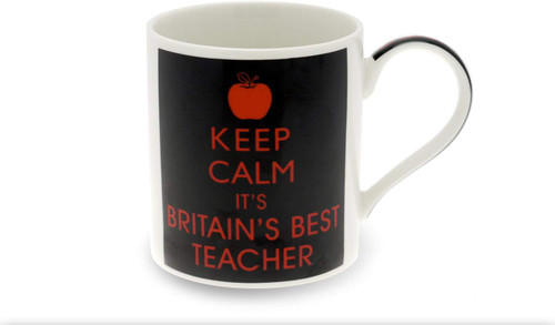 fine China Keep Calm Best Teacher Mug