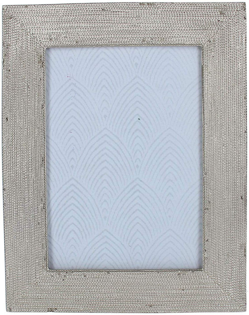 Gisela Graham Silver Beaded Resin Picture Frame, Mini