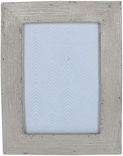 Gisela Graham Silver Beaded Resin Picture Frame, Mini