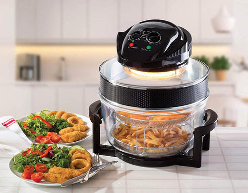 Daewoo Halogen Air Fryer with an Extension Ring Black