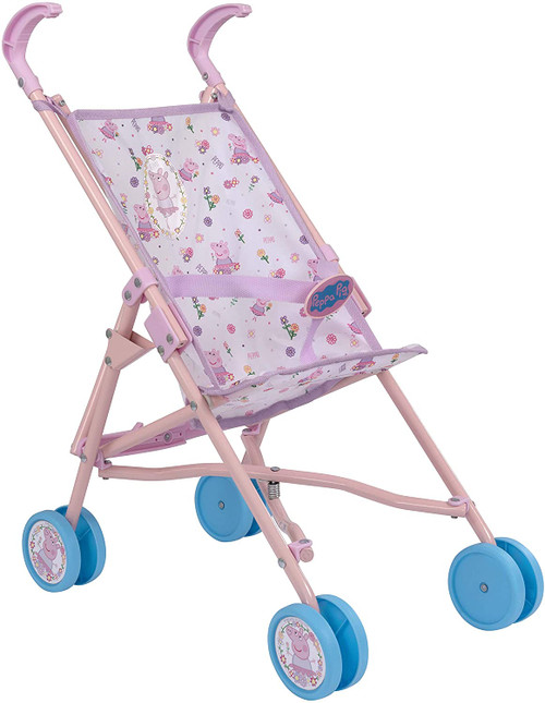 Peppa Pig Stroller | Childrens Baby Doll Pram Toy Great For Girls & Boys Aged