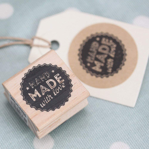 'Hand Made With Love' Wodden Rubber Stamp - Craft