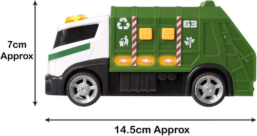 Teamsterz Small Light & Sound Garbage Truck | Kids City Service Toy Vehicle Great For Children Aged 3+
