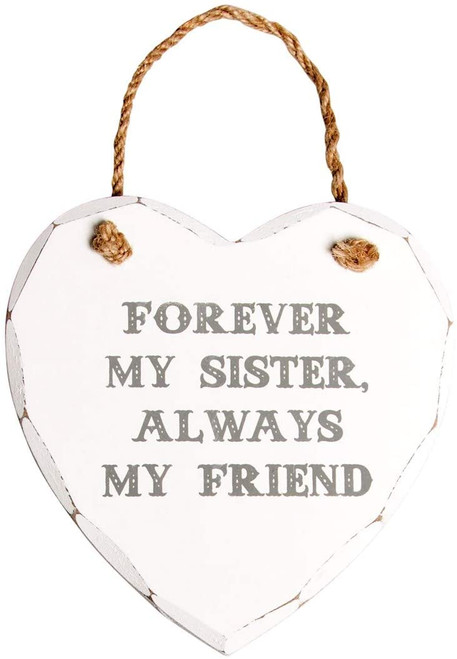 Forever My Sister Heart Plaque