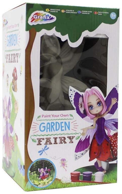 Paint Your Own Garden Fairy Statue Magical Art Craft Kit Creative Activity Set