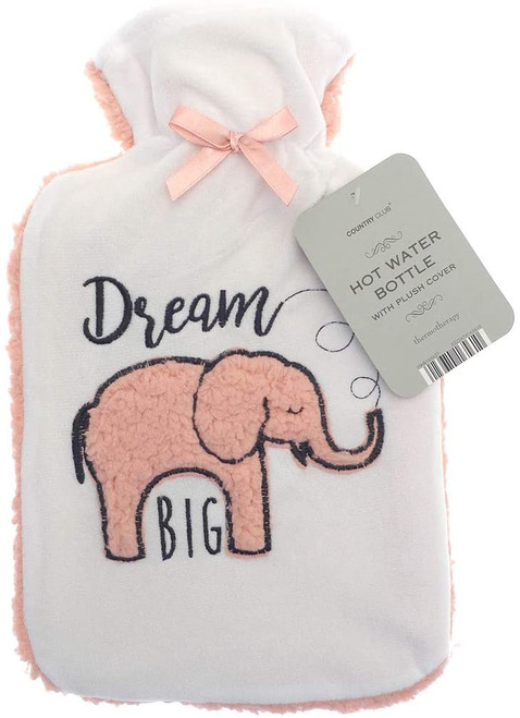 Sherpa Back Hot Water Bottle (Dream Big)