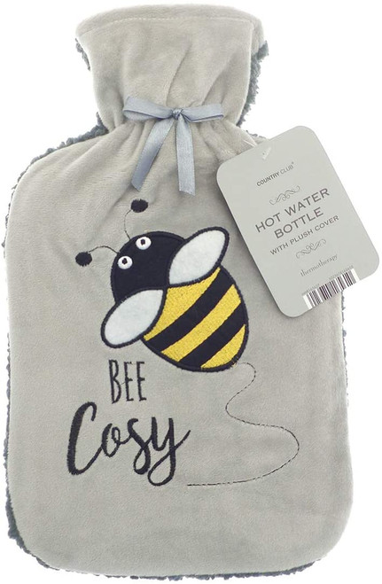 Sherpa Back Hot Water Bottle (Bee Cosy)