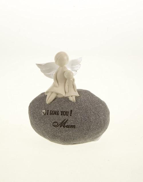 I Love You Mum Angel Stone Decoration