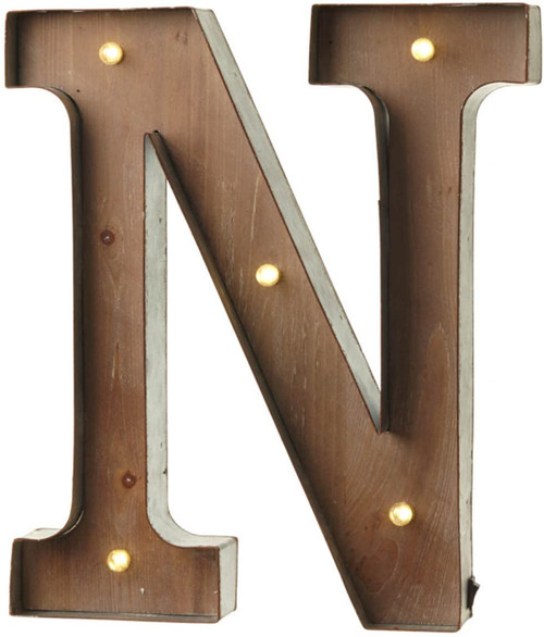 Vintage Illuminated Carnival Lights - A-Z - Choice of Alphabet Letters (Letter N)
