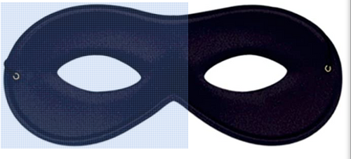 Eyemask Eye Mask Satin Black for Fancy Dress Masquerade Accessory