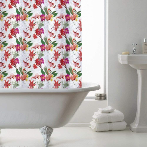 Country Club Shower Curtain Flamingo