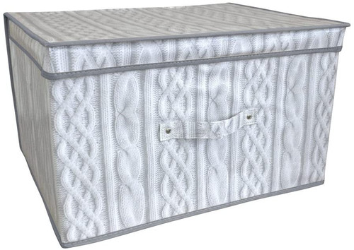Cable Knit Print Storage Box